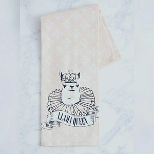 Other - Llama Queen Cotton Tea Towel